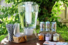 beverage stand for summer entertaining