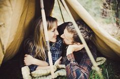 Camping Engagement pictures.