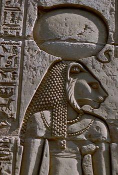 Lion-headed Goddess Sekhmet, Kom Ombo Temple, Egypt