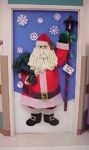 3D Santa on Classroom door.. Merry Christmas!