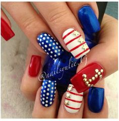 4th of July nails ♡
