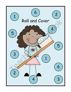 FREEBIE Dental Health Roll and Cover Activity