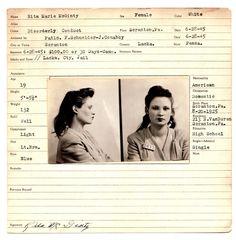 Bathroom collage idea ... Framed Vintage Bad Girl Mugshots.