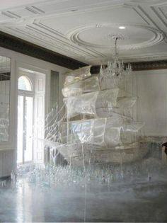 Glass ship #art #installation