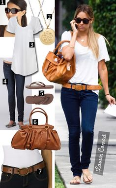 pinterest summer fashion | Lauren Conrad proves less is more by pairing the perfect white tee ...