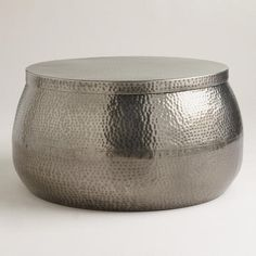 From WorldMarket.com: Cala Hammered Coffee Table