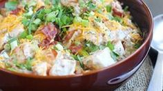 This may be the most unbelievable potato salad...eva. A creamy, spicy, slightly sweet sauce coats mounds of cheddar-bacon-chive-cilantro tossed potatoes. Potato perfection!