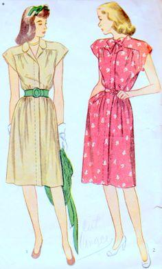 1940s One Piece Dress