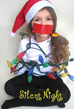 silent night - super cute christmas card idea.
