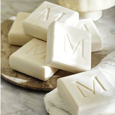 Monogrammed eco-luxury soaps