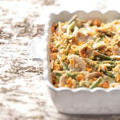Holiday Green Bean Casserole Recipe from Taste of Home -- shared by Laura Fall-Sutton of Buhl, Idaho