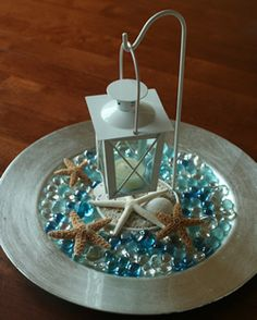 Lantern Beach Centerpiece