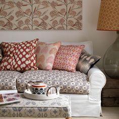 Wohnzimmer mit bunten Mustern Wohnideen Living Ideas Interiors Decoration