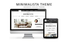 Check out Minimalista | Genesis 2.0Child Theme by The Bloggerette Studio on Creative Market