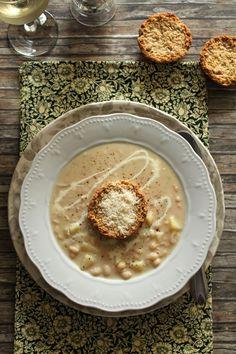 White Bean Potato & Parmesan Soup