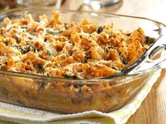 3 cheese baked ziti with spinach