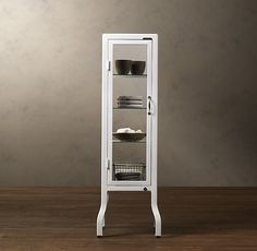 Pharmacy Small Bath Cabinet White
