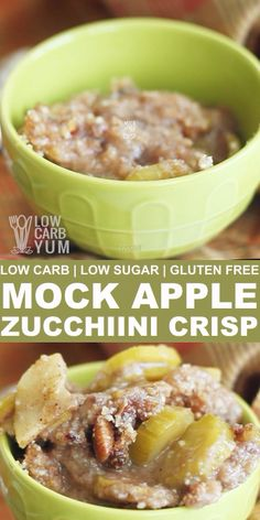 Apples are forbidden fruit on low carb, but this low sugar mock apple zucchini crisp recipe is a clever way to trick your taste buds when you crave apples. // low carb dessert recipes // low carb baking // low sugar dessert recipes // gluten free desserts recipes // #lowsugar #glutenfree #lowcarbrecipes #desserts