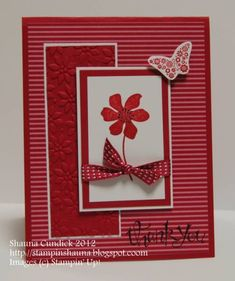 Raspberry Bloom and Butterfly by stampinshauna - Cards and Paper Crafts at Splitcoaststampers