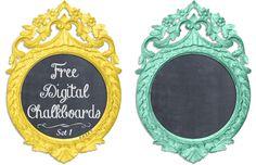 Cute digital chalkboards!