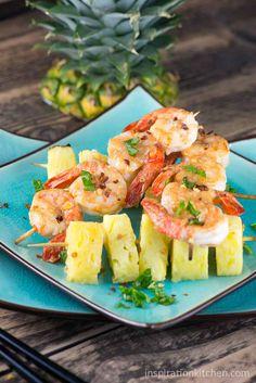 Shrimp and Pineapple with Peanut Sauce