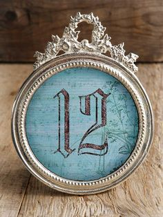 """Circle Frame, 5"""" Table Number Metal Frames :: $18 