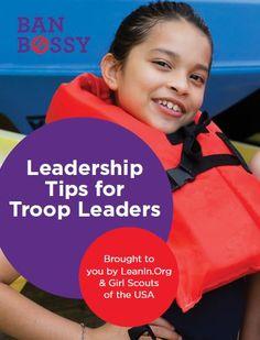 Leadership Tips for Troop Leaders #BanBossy