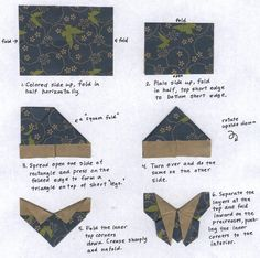 origami fabric butterflies   Something for (almost) Nothing