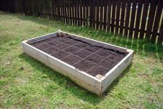 DIY Raised Garden Bed - love this!  From Lively Green Door #diy #garden #outdoors