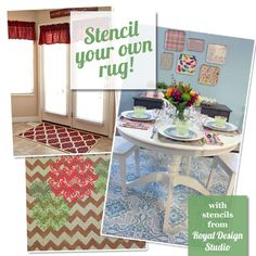Stencil Ideas for Indoor Rugs from Royal Design Studio | Royal Design Studio