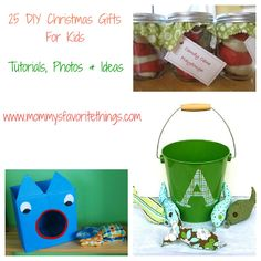 Mommy's Favorite Things: 25 DIY Christmas Gifts for Kids,  so many really cute & clever ideas! (Dino hoodie, art center, science kit, etc.)
