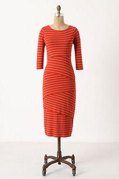 Tiered Stripes Dress #anthropologie