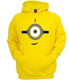 X XL One Eye Despicable Me Minion Clothing Hooded sweat Shirt   eBay