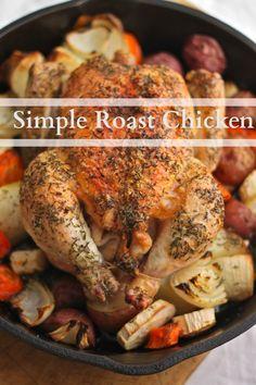 Simple Roast Chicken - The Corner Kitchen