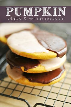 NYC-style Pumpkin Black and White Cookies