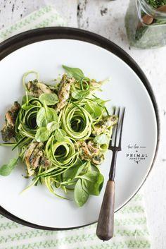 chicken kale pesto zucchini pasta