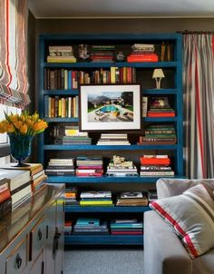 love this parsons-style bookcase