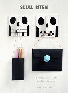 Skull Bites! Clothespin Hangers tutorial - www.weight-loss-reviews.co.uk The #1 weight loss product review site on the web, providing top quality products, tips, hints and more!