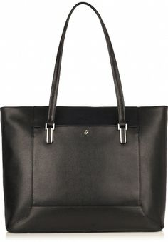 """Picton Black 15"""" Leather Laptop Tote from KNOMO: $325"""