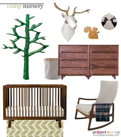 Here's our take on a clean and modern camp inspired nursery.