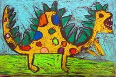 "From exhibit ""Dinosaur Chalk Pastel Drawings 1st Grade"""