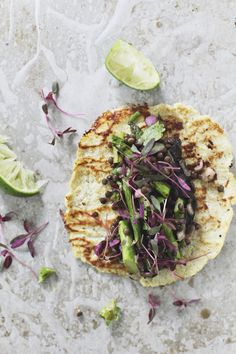 Grilled Spring Vegetable Tacos with Cauliflower Tortillas
