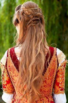 viking celtic medieval elven braided hair on