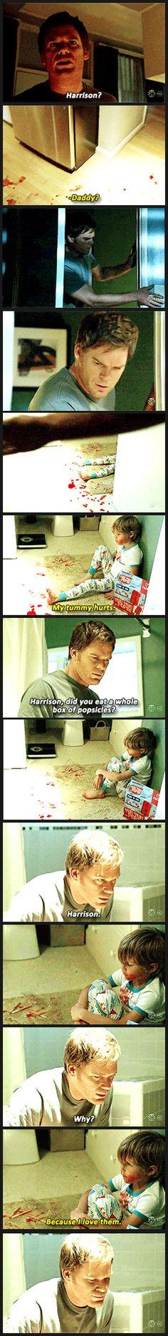 Dexter freaks out…