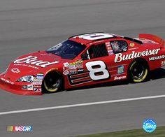 Dale Earnhardt Jr Car | Dale Earnhardt, Jr. #8 Budweiser car on track, full side view Fine-Art ...