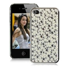 Fashionable iPhone hard case cover embedded with glitter rhinestone  Made from highly durable premium plastic material  A product of exquisite craftsmanship for optimum protection and beautiful look