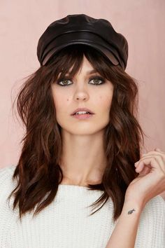 Roxy Leather Cap | Shop What's New at Nasty Gal