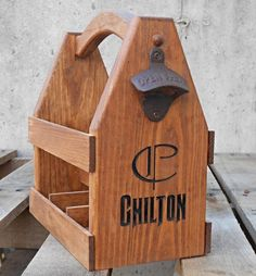 Personalized Beer Tote  Wooden Beer Carrier  Six by MVwoodworks, $63.00