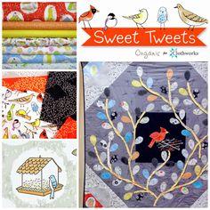 FabricWorm: Fabricworm Giveaway: Sweet Tweets in Grey