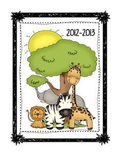 FREE Zebra/Jungle Teacher Binder Cover/Dividers   # Pin++ for Pinterest #